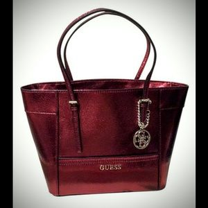 New Discontinued GUESS Raspberry Purse & Wallet